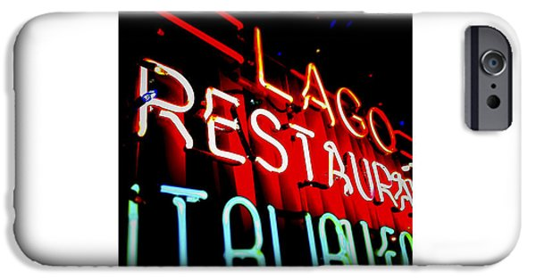 Sign iPhone Cases - Club Lago_11.27.12 iPhone Case by Paul Hasara