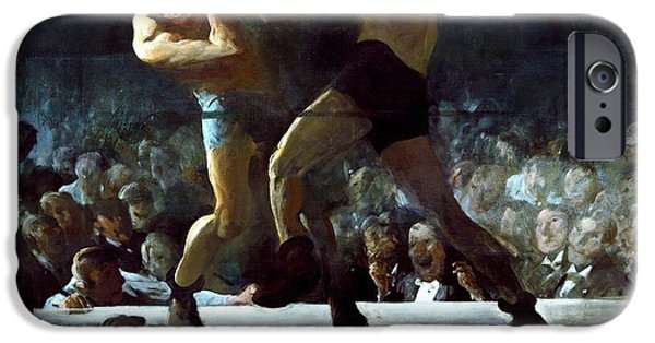 1907 Paintings iPhone Cases - Club Night iPhone Case by Pg Reproductions