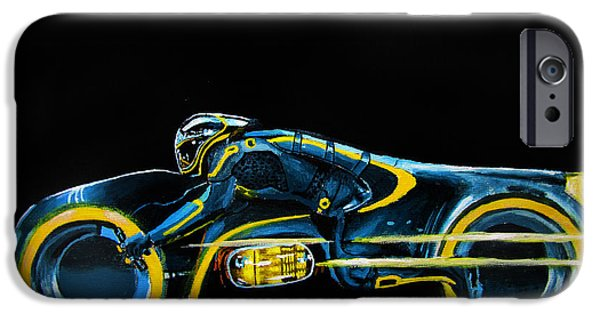 Tron iPhone Cases - CLUs Lightcycle iPhone Case by Kayleigh Semeniuk