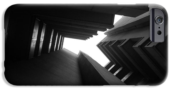 Brutalism iPhone Cases - Cluster Block - Denys Lasdun iPhone Case by Peter Cassidy
