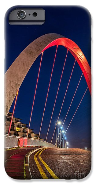 Mean iPhone Cases - Clyde Arc Glasgow  iPhone Case by John Farnan
