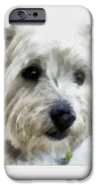 Westie Digital iPhone Cases - Clyde iPhone Case by Bob Galka