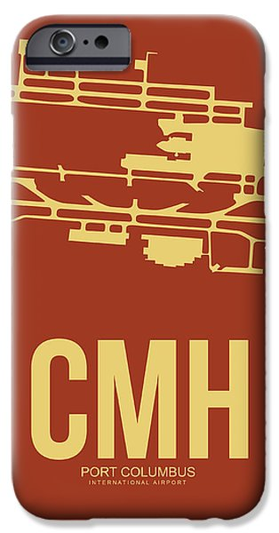 Town iPhone Cases - CMH Columbus Airport Poster 1 iPhone Case by Naxart Studio