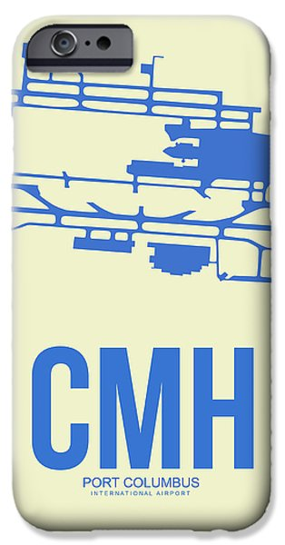 Town iPhone Cases - CMH Columbus Airport Poster 2 iPhone Case by Naxart Studio
