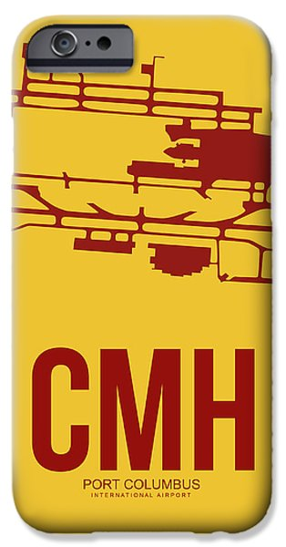 Celebrated iPhone Cases - CMH Columbus Airport Poster 3 iPhone Case by Naxart Studio