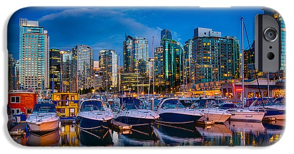 City Scape Photographs iPhone Cases - Coal Harbour iPhone Case by Ian Stotesbury