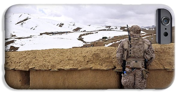 East Village Photographs iPhone Cases - Coalition Forces Visit The Hazaran iPhone Case by Stocktrek Images
