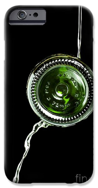 Wine Bottles iPhone Cases - Coanda Effect iPhone Case by Martyn F. Chillmaid