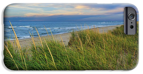 Cape Cod Landscapes iPhone Cases - Coast Guard Beach Cape Cod iPhone Case by Bill  Wakeley