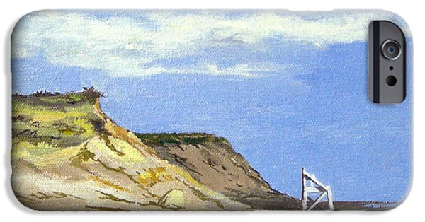Chatham Paintings iPhone Cases - Coast Guard Beach Eastham Cape Cod Massachusetts iPhone Case by Christine Hopkins