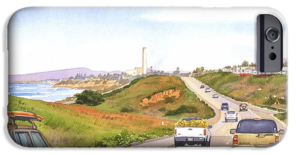Suburban iPhone Cases - Coast Hwy 101 Carlsbad California iPhone Case by Mary Helmreich