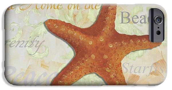 Starfish iPhone Cases - Coastal Decorative Starfish Painting Decorative Art by Megan Duncanson iPhone Case by Megan Duncanson