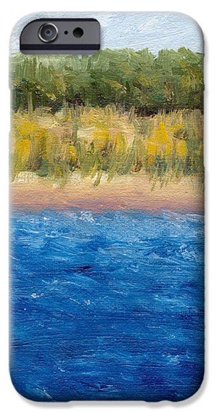 Abstract Seascape iPhone Cases - Coastal Dunes 2.0 iPhone Case by Michelle Calkins