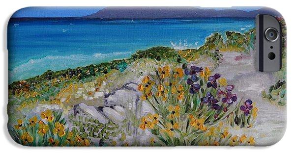 Carolinestreetart iPhone Cases - Coastal Flora iPhone Case by Caroline Street