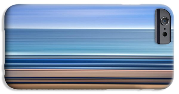 Abstract Seascape iPhone Cases - Coastal horizon 1 iPhone Case by Delphimages Photo Creations