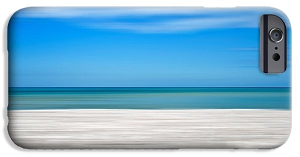 Abstract Seascape iPhone Cases - Coastal horizon 10 iPhone Case by Delphimages Photo Creations
