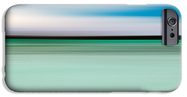 Abstract Seascape iPhone Cases - Coastal horizon 5 iPhone Case by Delphimages Photo Creations