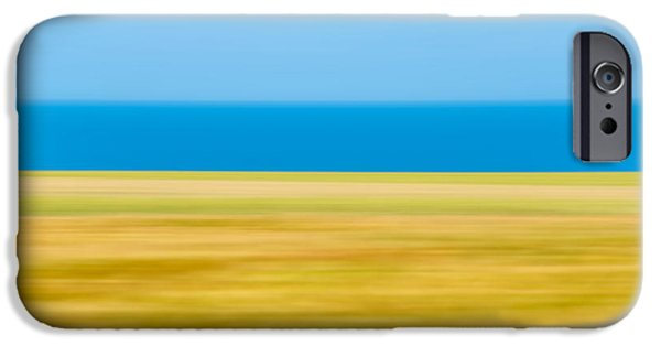 Abstract Seascape iPhone Cases - Coastal horizon 9 iPhone Case by Delphimages Photo Creations
