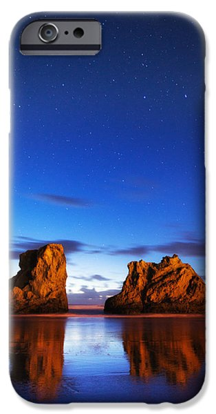 Pacific Ocean Prints iPhone Cases - Coastal Twilight iPhone Case by Darren  White