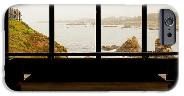 Shed iPhone Cases - Coastal Viewed From A Shed At Mendocino iPhone Case by Panoramic Images