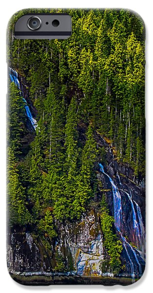 Canada Photograph iPhone Cases - Coastal Waterfall iPhone Case by Robert Bales