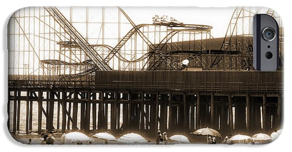 Monotone iPhone Cases - Coaster Ride iPhone Case by John Rizzuto