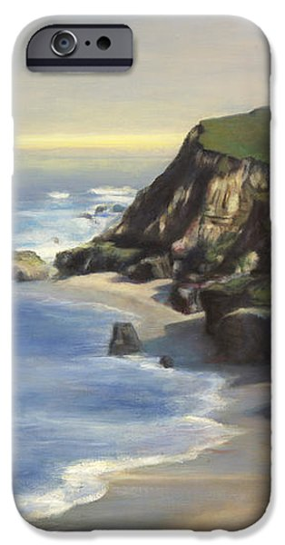 Coastline Half Moon Bay iPhone Case by Terry Guyer