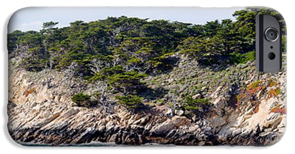 Point Lobos State iPhone Cases - Coastline, Point Lobos State Reserve iPhone Case by Panoramic Images