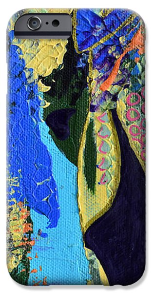Modern Abstract iPhone Cases - Coat Of Many Colors iPhone Case by Donna Blackhall