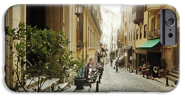 Alley iPhone Cases - Cobblestone Street In Istanbul, Turkey iPhone Case by Panoramic Images