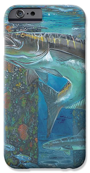 Swordfish iPhone Cases - Cobia Strike In0024 iPhone Case by Carey Chen