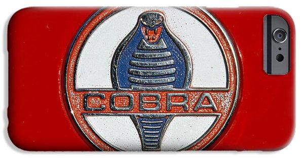 1964 Ford Emblem iPhone Cases - Cobra Emblem iPhone Case by Dennis Hedberg