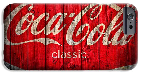 Old Barn iPhone Cases - Coca Cola Barn iPhone Case by Dan Sproul