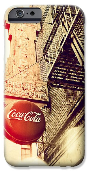 San Francisco Cali iPhone Cases - Coca Cola iPhone Case by Chris Andruskiewicz