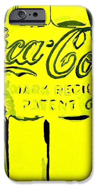 Glass Pyrography iPhone Cases - Coca-Cola Coke  iPhone Case by Miryam  UrZa