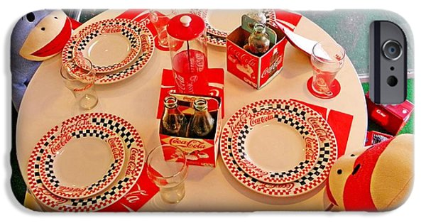 Toy Store Photographs iPhone Cases - Coca-Cola Diner  iPhone Case by Chris Berry