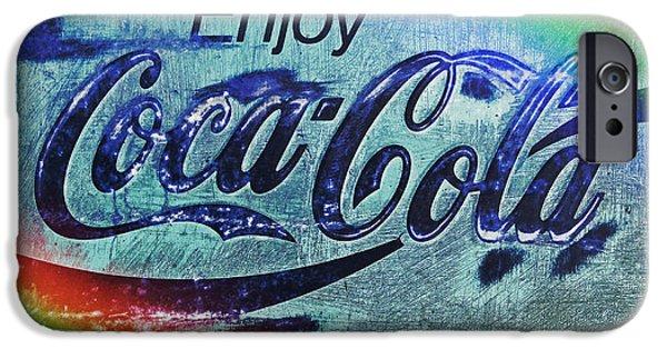 Coca-cola Signs iPhone Cases - Coca Cola Rainbow iPhone Case by John Stephens
