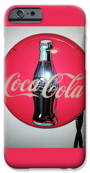 Etc. Paintings iPhone Cases - Coca Cola Wall Phone iPhone Case by Earnestine Clay