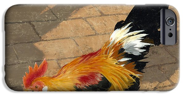 Cock iPhone Cases - Cock of the Walk iPhone Case by John Wyckoff