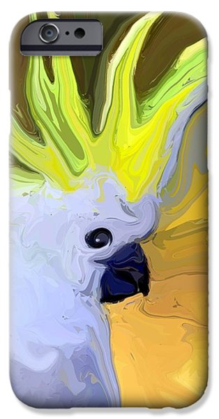 Cockatoo iPhone Cases - Cockatoo iPhone Case by Chris Butler