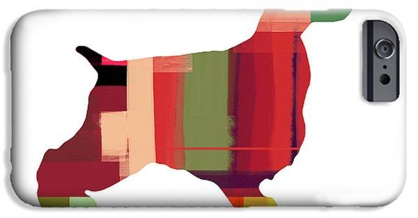Spaniel Puppy iPhone Cases - Cocker Spaniel 2 iPhone Case by Naxart Studio