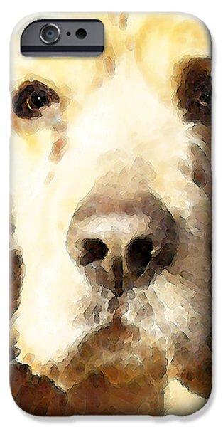 Cocker Spaniel Art - Mellow Yellow iPhone Case by Sharon Cummings