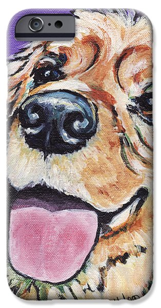 Cocker Spaniel Paintings iPhone Cases - Cocker Spaniel iPhone Case by  Linda Halom