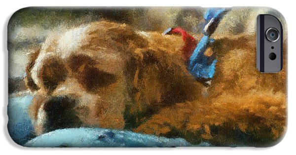 Puppy Iphone Case iPhone Cases - Cocker Spaniel Photo Art 07 iPhone Case by Thomas Woolworth
