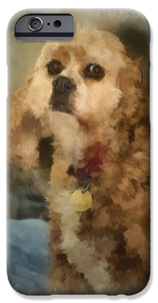 Puppies iPhone Cases - Cocker Spaniel Photo Art 10 iPhone Case by Thomas Woolworth