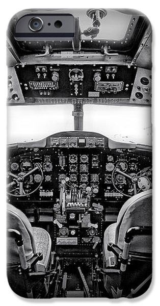 cockpit of a DC3 Dakota iPhone Case by Paul Fell