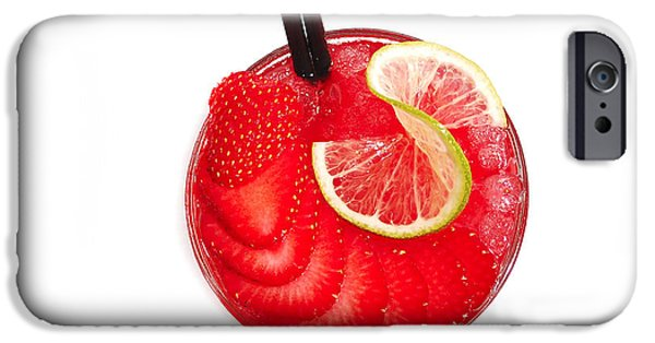 Strawberry iPhone Cases - Cocktail iPhone Case by Gina Dsgn