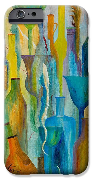 Wine Bottles iPhone Cases - Cocktails and Containers iPhone Case by Larry Martin