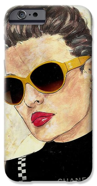 Woman With Black Hair iPhone Cases - Coco iPhone Case by P J Lewis
