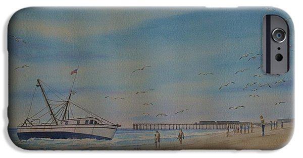 Boat iPhone Cases - Cocoa Beach meets Ellen Marie iPhone Case by AnnaJo Vahle